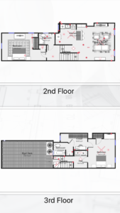 2nd and 3rd floor layout - 2002 Parrish St - Apt 2